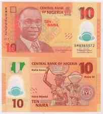 Nigeria :  10 Naira 2013 UNC polymer currency note