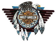 Harley Davidson Concho Fenster Aufkleber Windshield 20x15cm Window Decal Innen