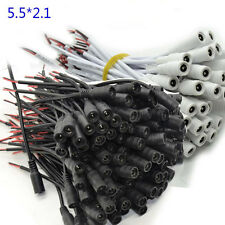 20pcs W+B 5.5x2.1mm DC Power Female Connector Cable Pigtail Plug Wire