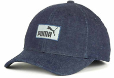 Puma Engineer Stretch Fit Navy Denim Cap Hat $27 One Size Fits Most