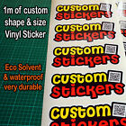 Vinyl Stickers Decals Labels custom printed and cut to shape