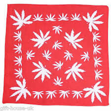 Weed Leaf Bandana Headwear Bandanna  Band Scarf Neck Wrist Wrap Band HeadtieB3