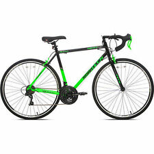 700C Mens Road Bike Kent Bicycle Black Green Shimano Aluminium Frame 21 Speed