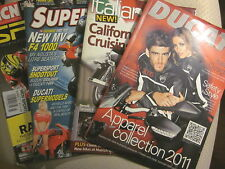 DUCATI Apparel Nov 2010; ITALIAN BIKE #3 2002;SUPERBIKE Aug 2004; MCN SPORT 2011