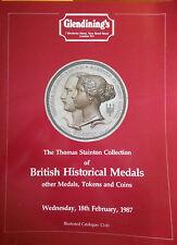 CATALOGUE - Glendining's - 1987 - Médailles Jetons et livres numismatiques