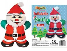 Inflatable Blow Up Santa 40cm Fun Novelty Christmas Party Toy Stocking Filler 3+