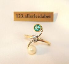 You and Me Jugendstil Diamant Ring 585 er Gold Toi et Moi / AU 323