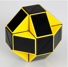 Yellow Transformable Brain Teaser Cube Magic Ruler Speed Twist Toy Snake Puzzle