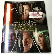 NEW STAR WARS BLU RAY DVD 3 DISC TARGET EXCLUSIVE DIGIPACK BONUS DIGITAL CONTENT