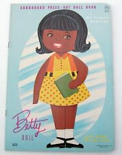 Vintage LOWE #2777 BETTY paper dolls 1968 Uncut/Unused/African American/MOD!