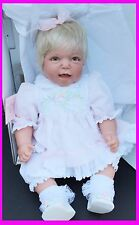 NEW LEE MIDDLETON ORIGINAL BABY REAL DOLL MOMMYS GOOD GIRL LACE DRESS SIGND REVA