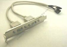"Lot10 6"" cable Dual USB 2.0 Port/Jack Bracket~Motherboard 2x5 10pin/9pin $SHdisc"
