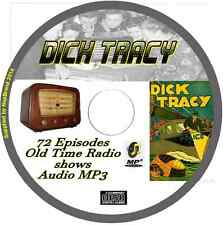 Dick Tracy 72 OTR Old Time Radio Episodes Audio MP3 on CD