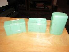 Plasco  GREEN REFRIGERATOR Sink Stove Vintage Kitchen Dollhouse Furniture 1:16