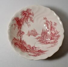 """Johnson Brothers THE OLD MILL PINK 8"""" Round Vegetable Bowl"""