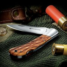 Couteau Beretta Checkered EDC Lame Acier 440 Manche Bois Made Italy BE125IOLP