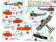 FCM Decals 1/72 FOKKER Dr.I D.II & D.VII FIGHTERS