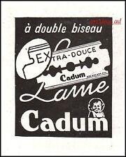 Publicité LAME DE RASOIR CADUM razor blade vintage ad 1941 - 9I