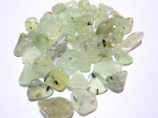 Prehnite with Epidote Tumbled Stone 12-20mm QTY3 Healing Crystal ET Contact