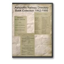 Ashcroft's Railway Directory Book Collection 1862-1866 on CD - B537