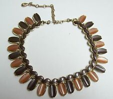 Vintage LISNER Two Toned Chocolate Thermoset Necklace