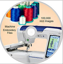 Machine Embroidery designs 100,000 HUS on DVD Disc - Viking - Husqvarna- WOW