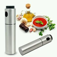 newest Stainless Steel Olive Pump Spray Fine Bottle Oil Sprayer Pot Cook Kitchen