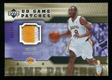 KOBE BRYANT 2005-06 UPPER DECK UD GAME JERSEY PATCHES 3 COLOR PATCH GOLD #/25 EX