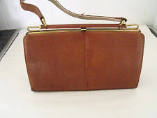 VINTAGE REAL TAN LIZARD HANBAG BY LINSLADE OF LONDON C1950'S, LOVELY PATINA!