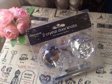 Set Of Two Large Crystal Bling Diamante Door Knobs Handles