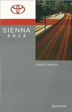 2012 Toyota Sienna Owners Manual User Guide Reference Operator Book