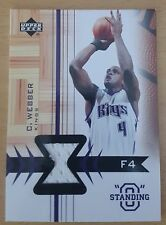 2003-04 Upper Deck Standing O Swatches #CWPH Chris WEBBER