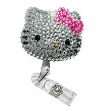 Hello Kitty Bling Retractable ID Badge Holder_ Rose pink