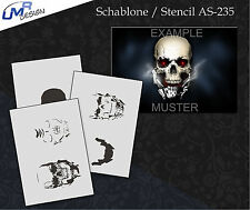 Step by Step Airbrush Stencil AS-235 M ~ Template ~ UMR-Design