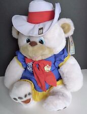 "Hidy Plush Bear 1988 Calgary Olympics Mascot Souvenir 16"" With Tag & 2 Pins"
