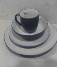 NEW Noritake COLORWAVE BLUE 4 piece COUPE PLACE SETTING (plates bowl mug) - NIB