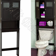 Bath Storage Cabinet Over The Toilet Space Saver Caddy Bathroom Organizer Wood
