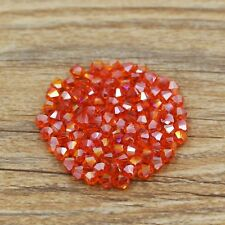 Swarovski 5301# 4 mm Bicone Crystal beads 100 Pieces Orange AB