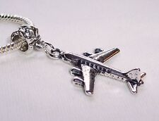 Airplane Airliner Travel Trip Flying Vacation Dangle Bead for Charm Bracelets