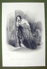 FRANCE Costume Faithful Wife Prison Escape - SUPERB Quality Print Engraving