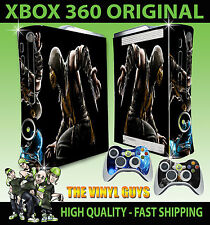 XBOX 360 ORIGINAL MORTAL KOMBAT X SCORPION STICKER SKIN & 2 PAD SKINS