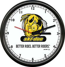 NEW Ski-Doo Snowmobile Angry Bee Racing Dealer Sales Service Sign Wall Clock