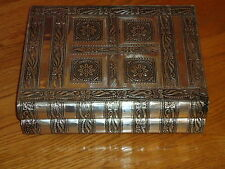 Daisy Flower Silver Large Jewellery Box Embossed Indian Hand Made Nice Gift