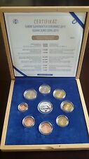 """Slovakia Proof Annual Coin Set 2015 with silver medal """"Coins"""" wooden box 1300pcs"""