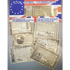 COLONIAL CURRENCY AUTHENTIC REPO  ANTIQUED PARCHMENT PAPER  VA PA MD NJ ME 37243