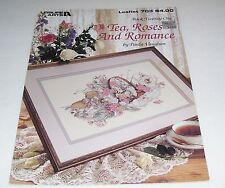 LA COUNTED CROSS STITCH LEAFLET PAULA VAUGHAN 703 TEA ROSES AND ROMANCE 1988