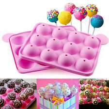 Cake Cookie Chocolate Silicone Lollipop Pop Mold Mould Baking Tray Stick U S