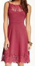 Free People New Forget me not crochet dress NWT $128 Dusty Berry size S