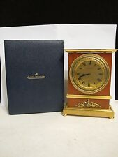 VINTAGE HIGHLY COLLECTIBLE  RARE JAEGER LECOULTRE 8-DAY MANTEL CLOCK