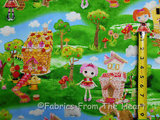 Lalaloopsy Cute as a Button Girls Candy Houses Scenic BY YARDS QT Cotton Fabric